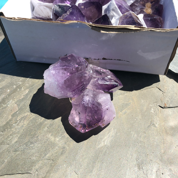 Amethyst Natural Points, A quality, for tranquility, calm and serenity; FB2018