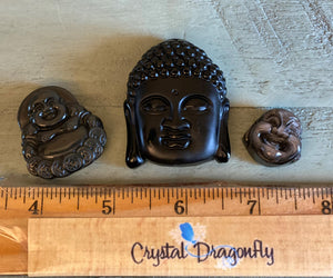 Black Obsidian Carved  Buddha FB2009