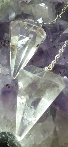 Clear Quartz Pendulum - Stone of Power - Lovely Polished Clear Quartz - Rainbows - Excellent Quality Crystals