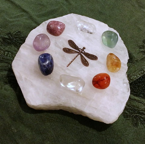 Dragonfly Happy Rainbow Crystal Grid