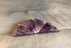 Amethyst Chevron Triangle Cabochon; FB2502