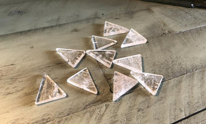 Clear Quartz Triangle Cabochon; FB2419