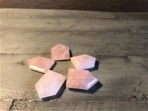 Rose Quartz House Shape Faceted Cabochon; FB2500