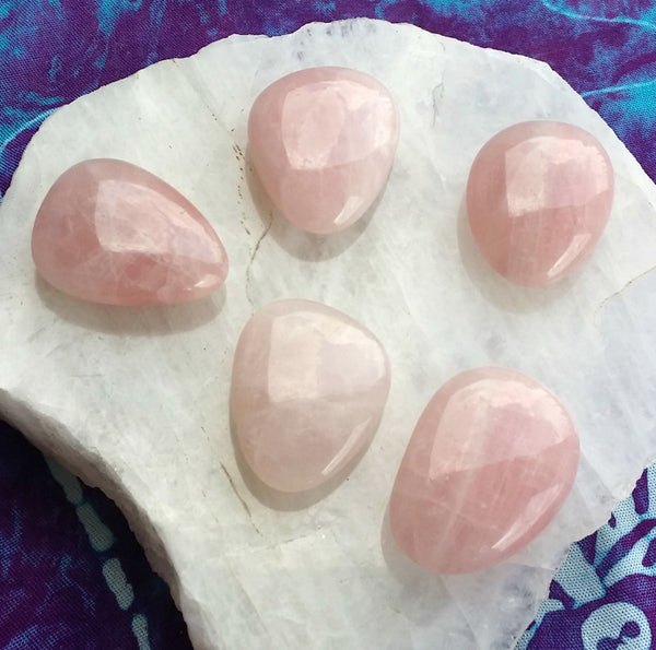 Rose Quartz Polished Soothing Stones - de-Stress! - Love - Peace - Self-worth - Nurturing - Comforting
