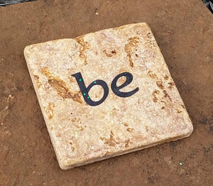"Inspirational Stone Tiles for Crystal Grids or Display - ""I am"" ""be"" ""love"" FB2404 🚛🏡🚛Moving Special🚛🏡🚛"