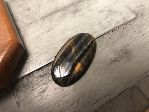 Tiger Eye Large Oval Cabochon; FB2541