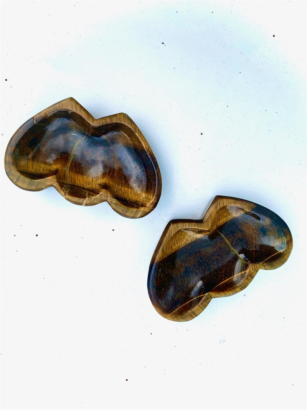 Tiger Eye Double Heart Bowl FB2714