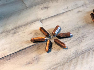 Tiger Eye Small Double Terminated Points: FB2585