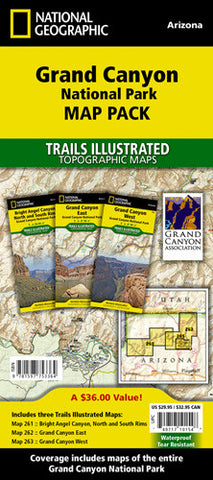 Grand Canyon National Park [Map Pack Bundle] | Utah.com Merchandise