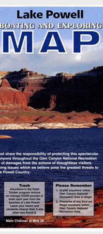 Lake Powell Map Utahcom