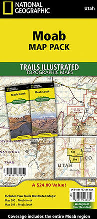 Moab Trail Map Pack Bundle (Biking & Jeeping Trails)