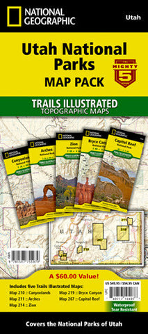 Mighty 5 Utah National Parks [Map Pack Bundle] | Utah.com Merchandise
