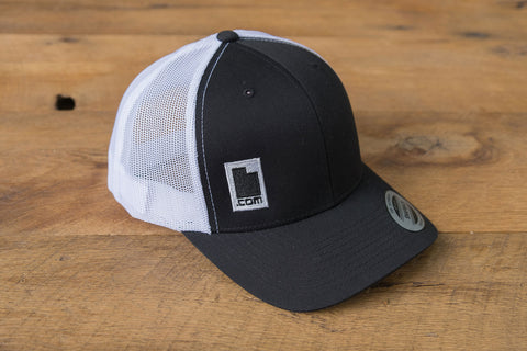 Retro Trucker Hat - Black/White | Utah.com Merchandise