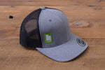 Retro Trucker Hat - Grey/Black/Green | Utah.com Merchandise