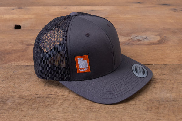 Retro Trucker Hat - Black/Black/Red