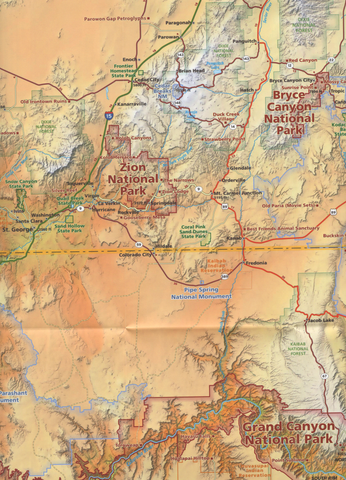 National Parks Map & Guide. An essential map for Utah National Parks on grand canyon map and guide, downtown dallas map and guide, bryce map and guide, national park service map and guide, monument valley map and guide,