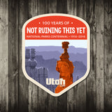 Centennial National Parks Stickers | Utah.com Merchandise