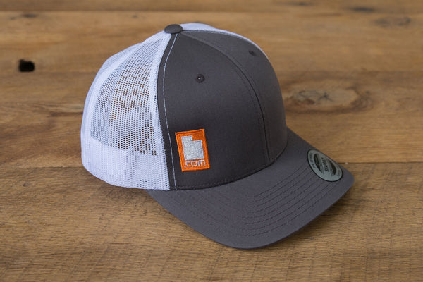 Retro Trucker Hat - Gray/Orange