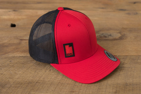 Retro Trucker Hat - Black/Red