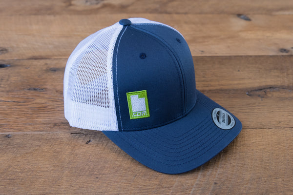 Retro Trucker Hat - Blue/Green