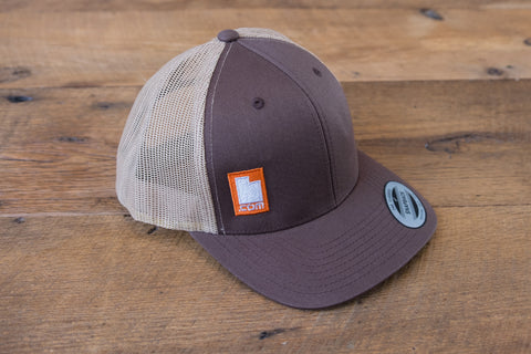 Retro Trucker Hat - Brown/Orange | Utah.com Merchandise