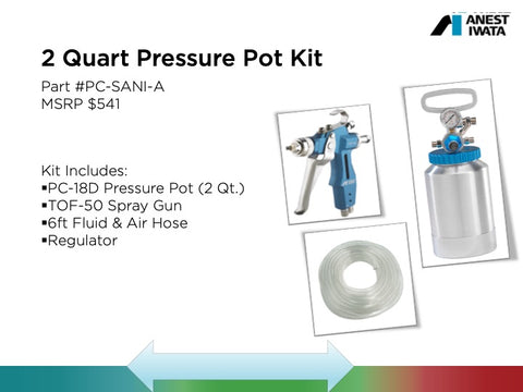 2 Quart Pressure Pot Kit - Sanitizing