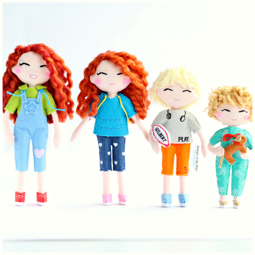 How about a selfie art doll? These cuties are Emma's children :) Click here now: www.whisperofthepipit.com