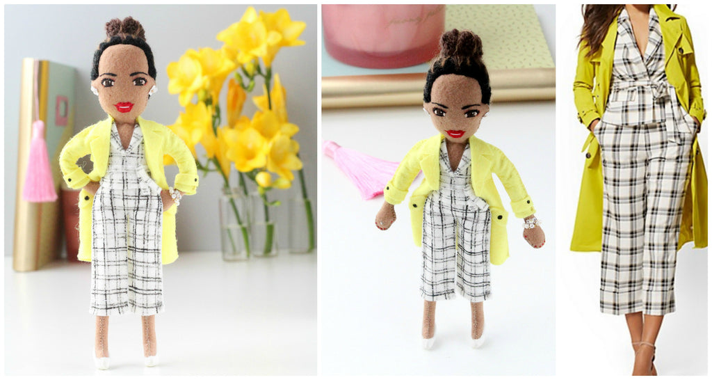 felt dolls, whisper of the pipit, malgo amos, girl boss, selfie doll, custom doll, personalised doll