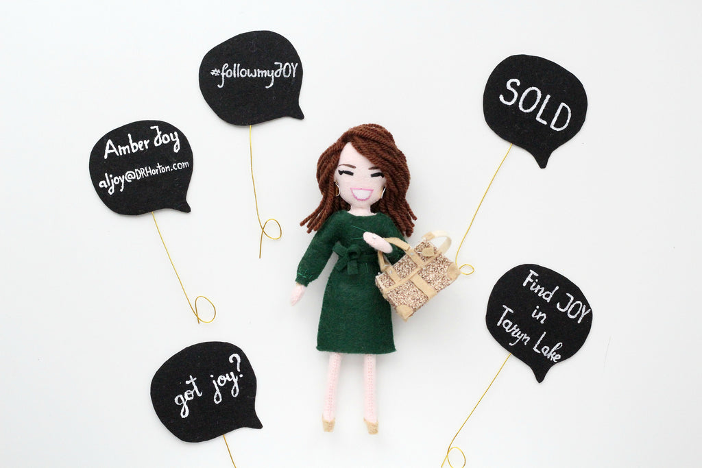 personalised doll, business woman,