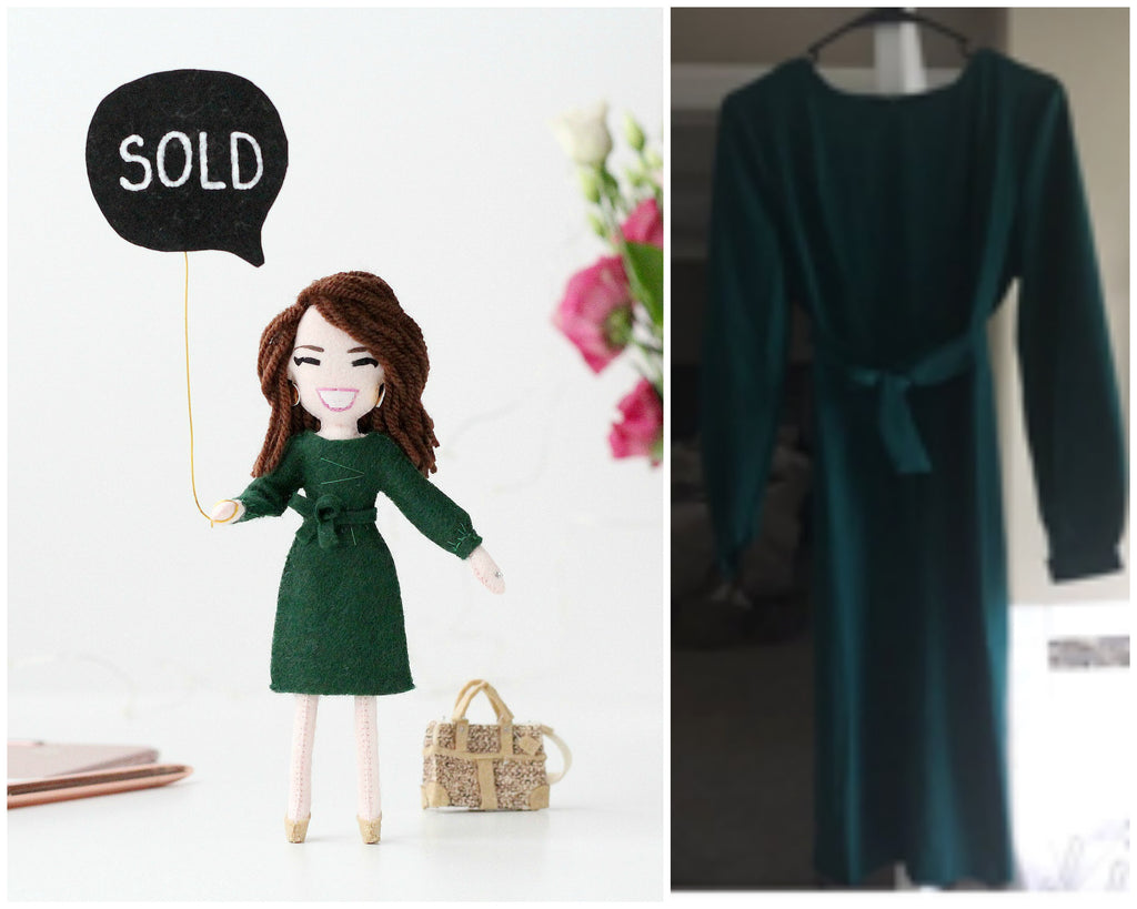 personalised doll with perfectly recreated outfit