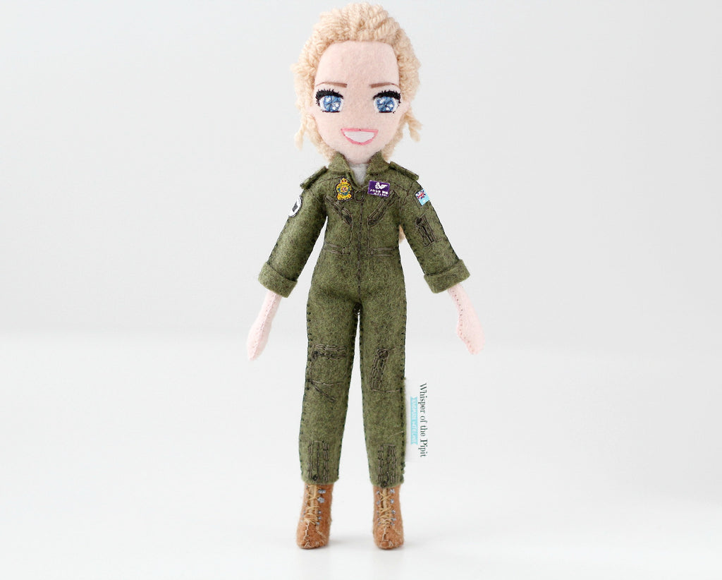 soldier girl, RAAF doll