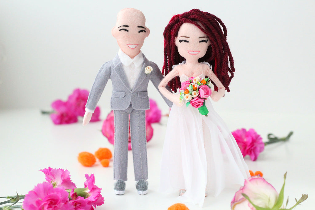 wedding dolls by whisper of the pipit