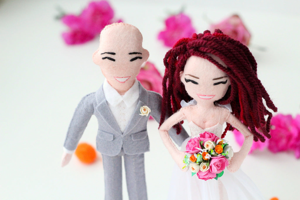 wedding selfie dolls, whisper of the pipit