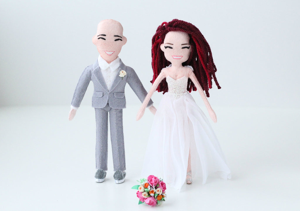 bride and groom dolls made to order from photo