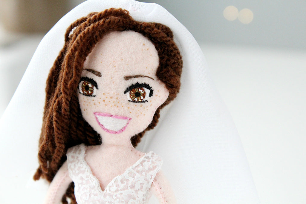 selfie doll for wedding, bride doll