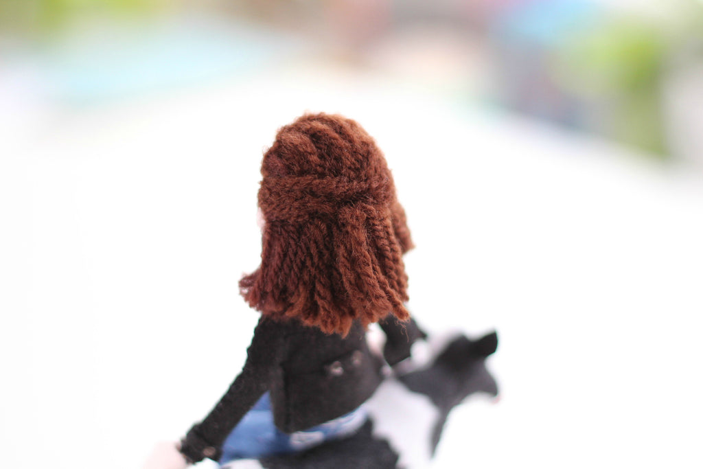 doll hair, yarn hair, selfie doll with yarn hair, knitting wool hair, whisper of the pipit