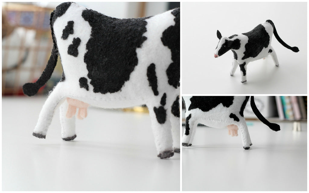 cow doll, felt cow, whisper of the pipit