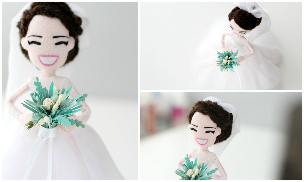 personalised bride doll
