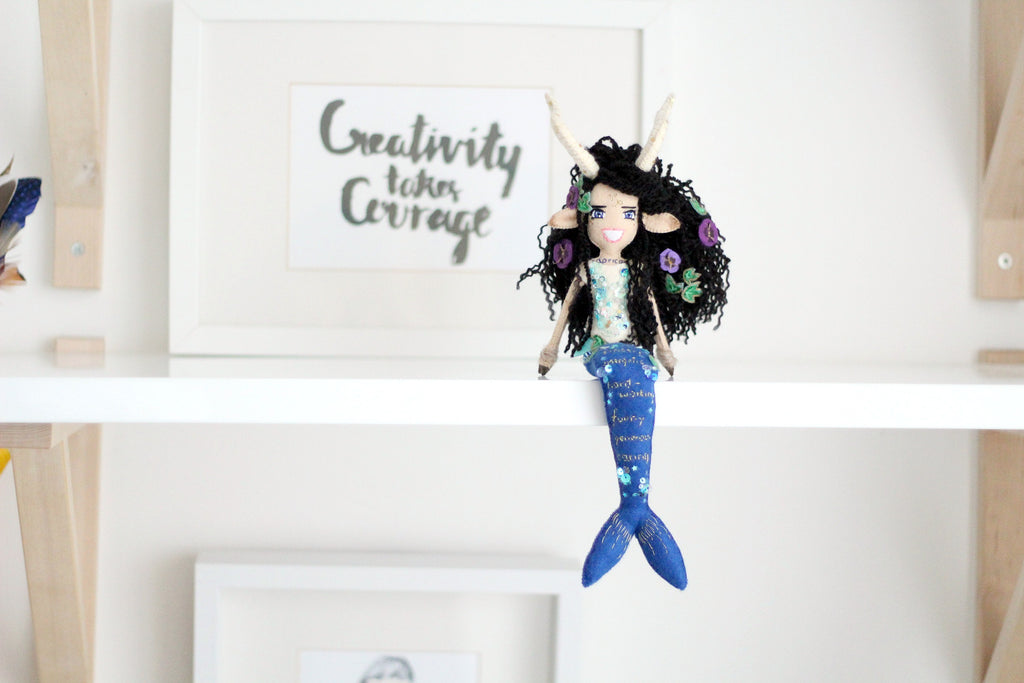 capricorn doll by whisper of the pipit art dolls to order
