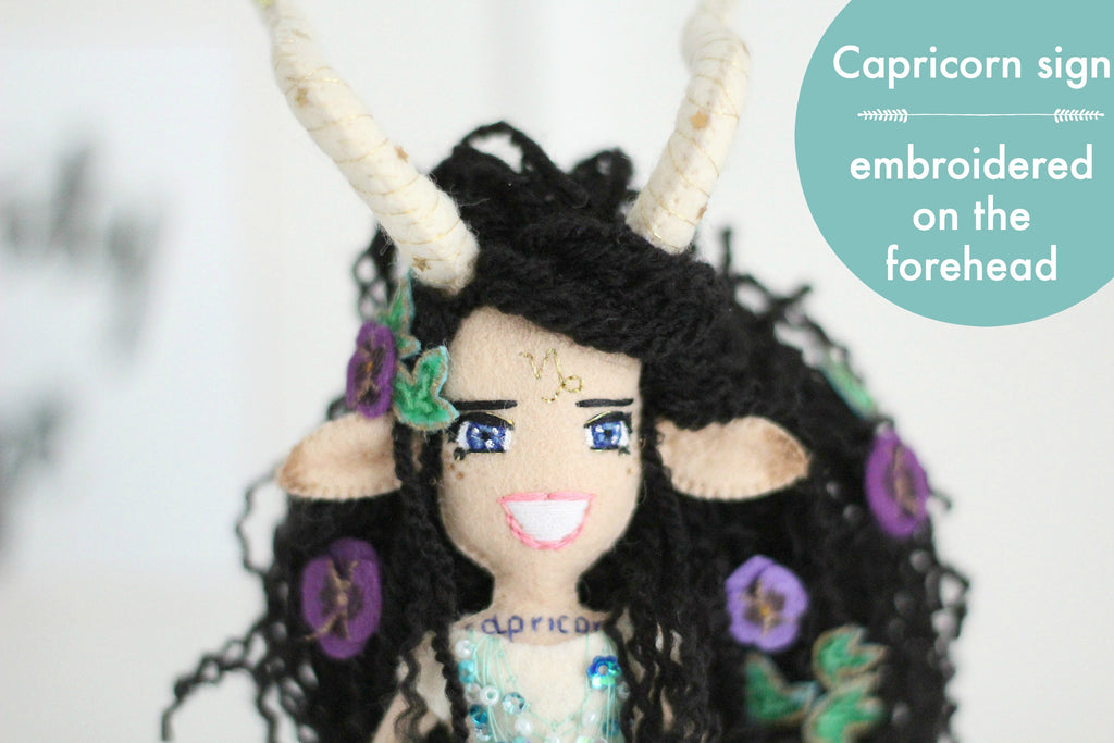 capricorn art doll by whisper of the pipit
