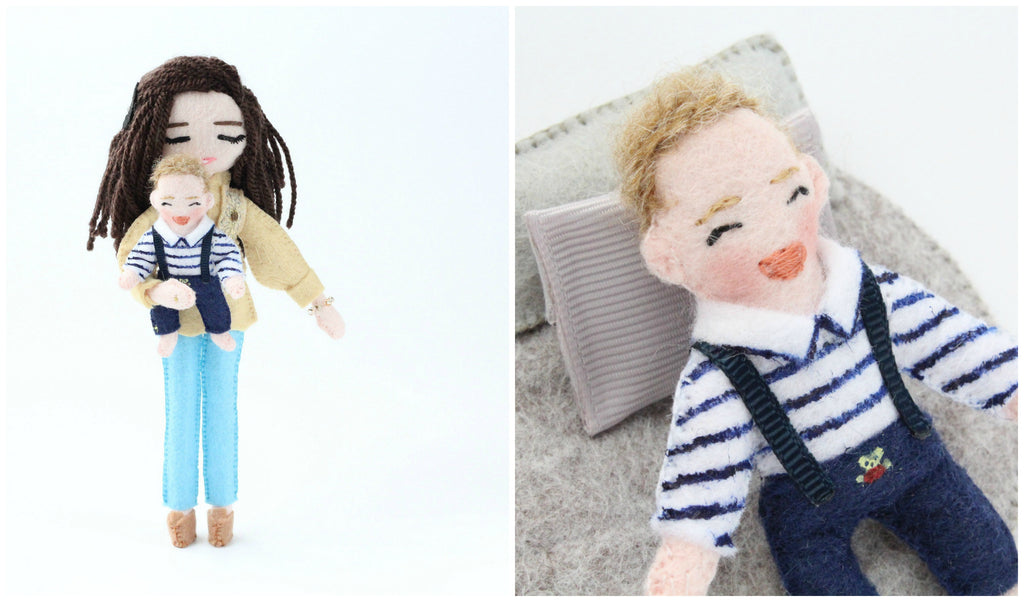 Custom baby doll 1st birthday family addition
