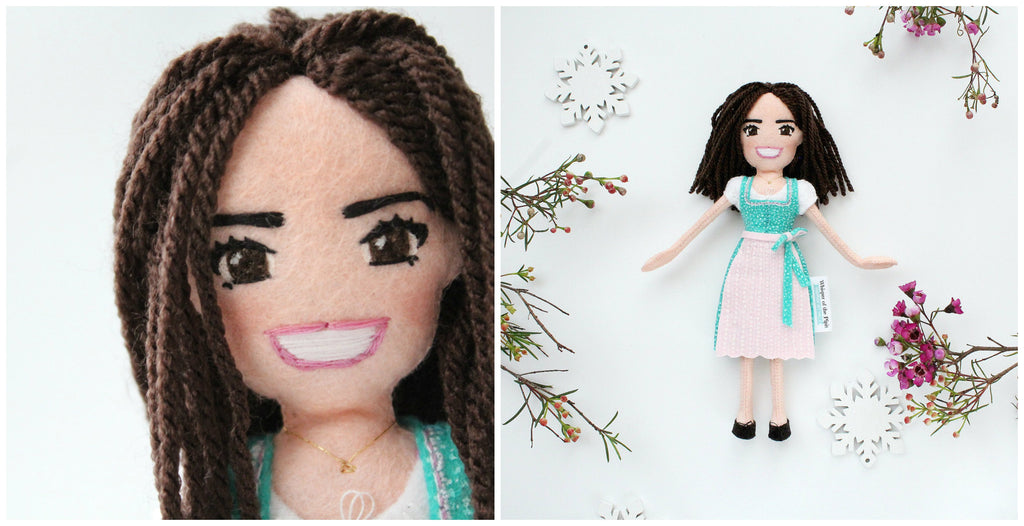 selfie doll made from photo Amelie doll