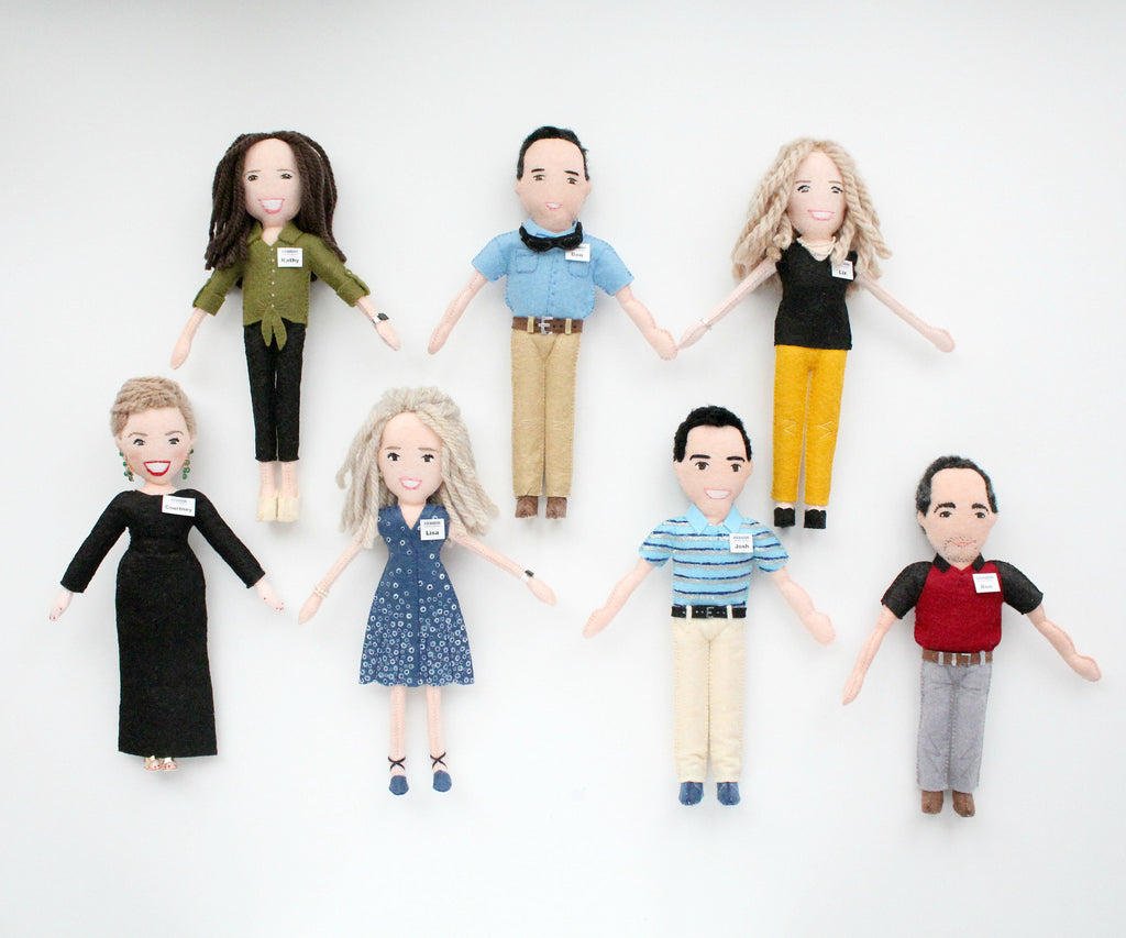 personalised doll for employees, whisper of the pipit