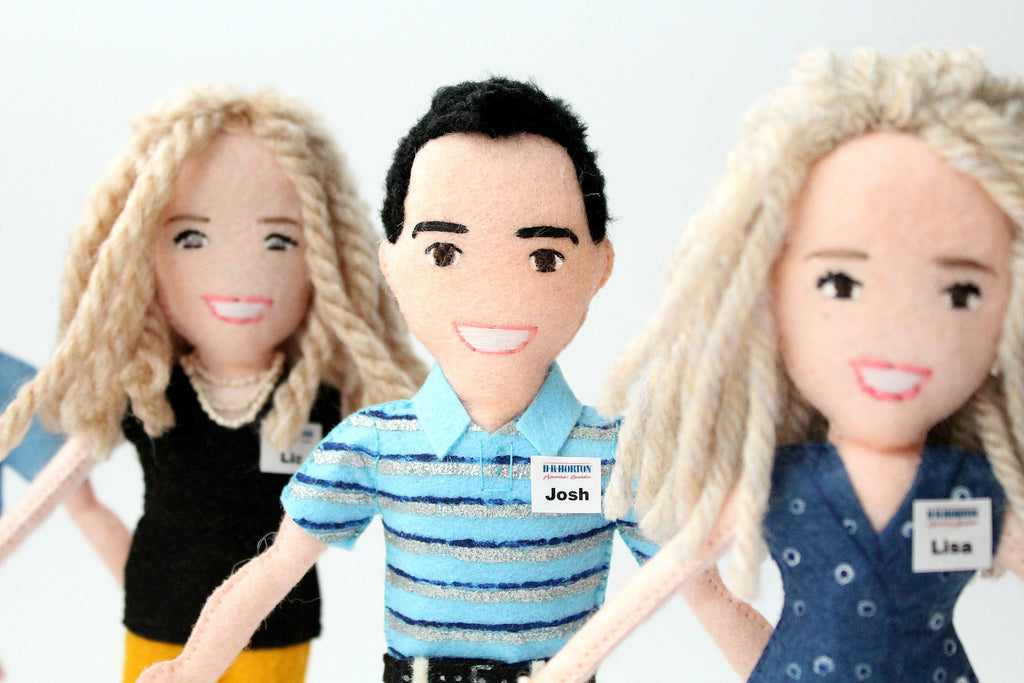 personalised dolls to order from photo employee gift