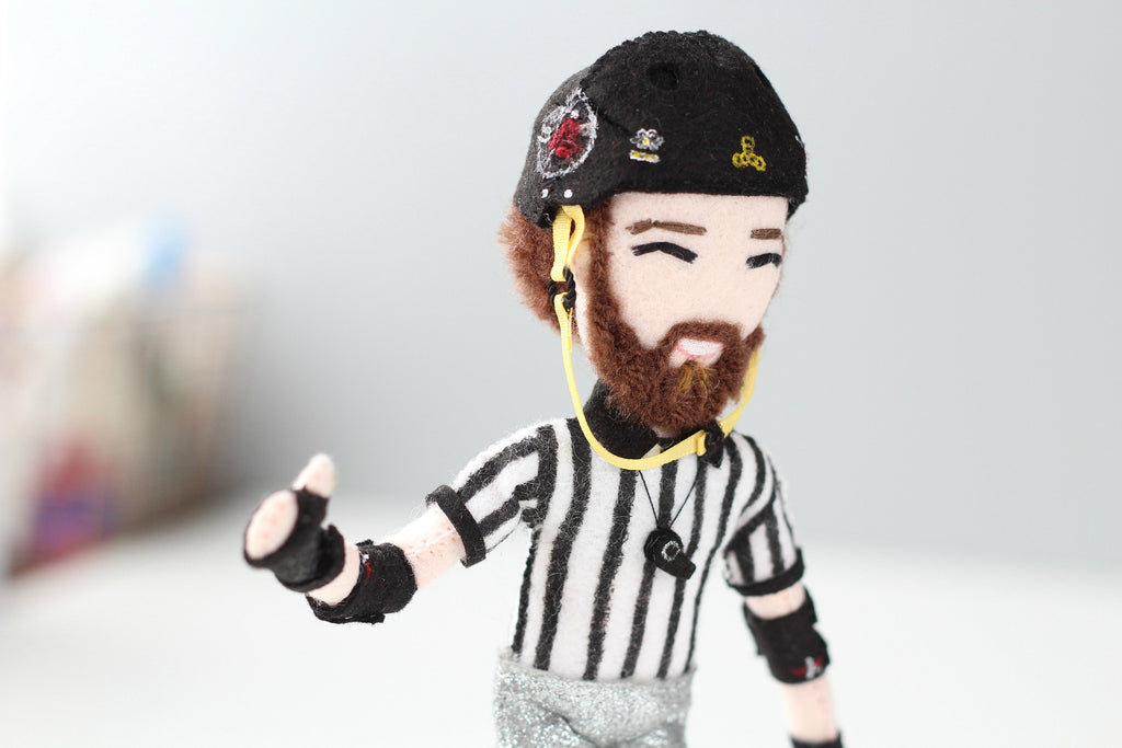 roller derby doll, selfie doll, personalised doll, whisper of the pipit