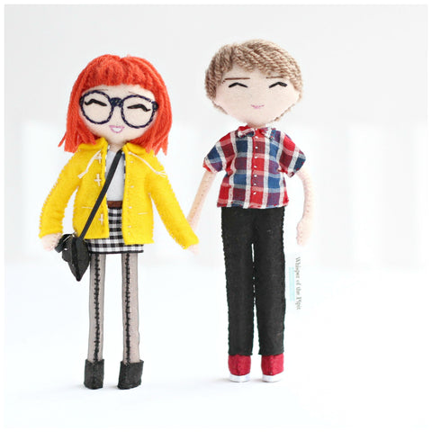 custom art dolls to look like you or your loved ones. mini me dolls, personalised dolls, selfie dolls made to order. Whisper of the Pipit dolls, shop now: www.whisperofthepipit.com