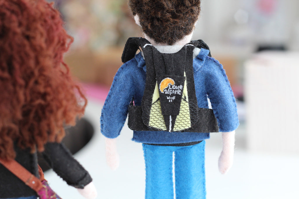 selfie doll with backpack, whisper of the pipit dolls
