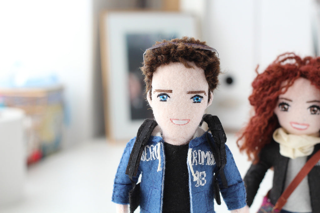 custom dolls for Valentina. Selfie dolls are perfect anniversary gifts. Whisper of the Pipit dolls made to order