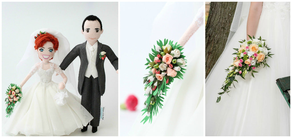 custom wedding dolls made from pictures