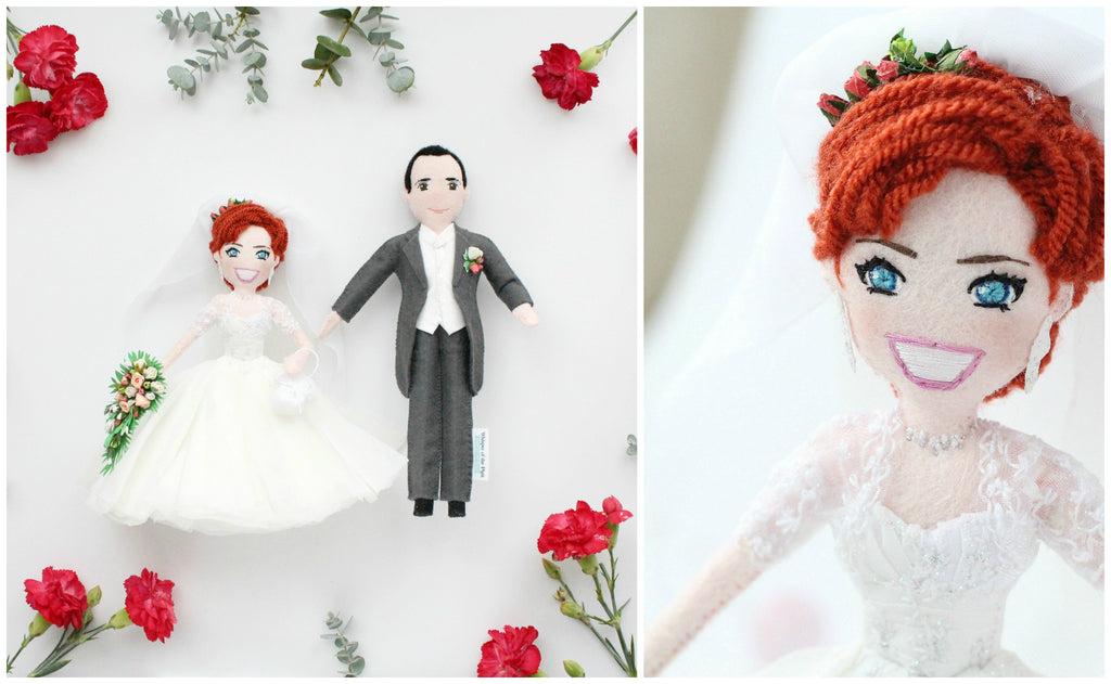 bride and groom wedding dolls to order